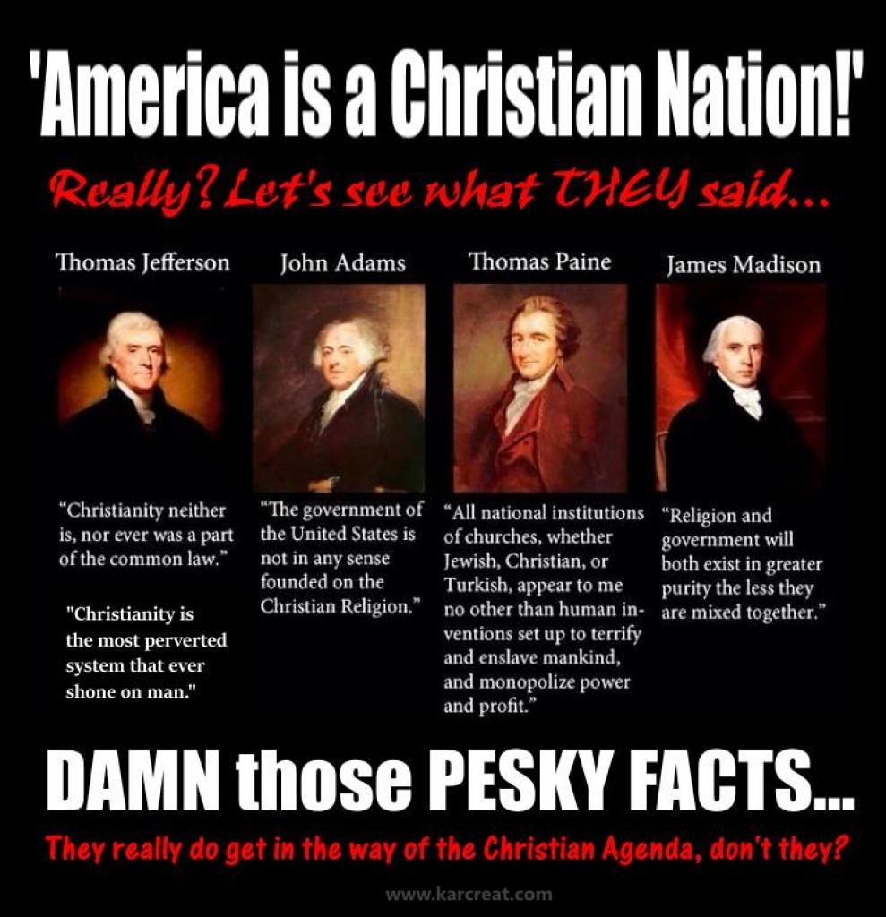was america founded as christian nation We like some jokes in liberapedia according to a large number of conservatives america was founded as a christian nation apparently, thomas jefferson was a pastor as well also apparently the reason that the founding fathers came to america was not for religious freedom.
